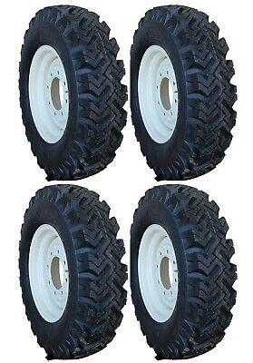 4 New 7.50-16 Narrow Snow Tires Bobcat Skid Steer Rims Replace 12-16.5 Kit T