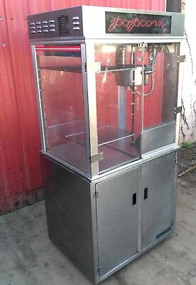 Gold Medal 1618ets 16oz Popcorn Machine W Display Warmer And Cabinet