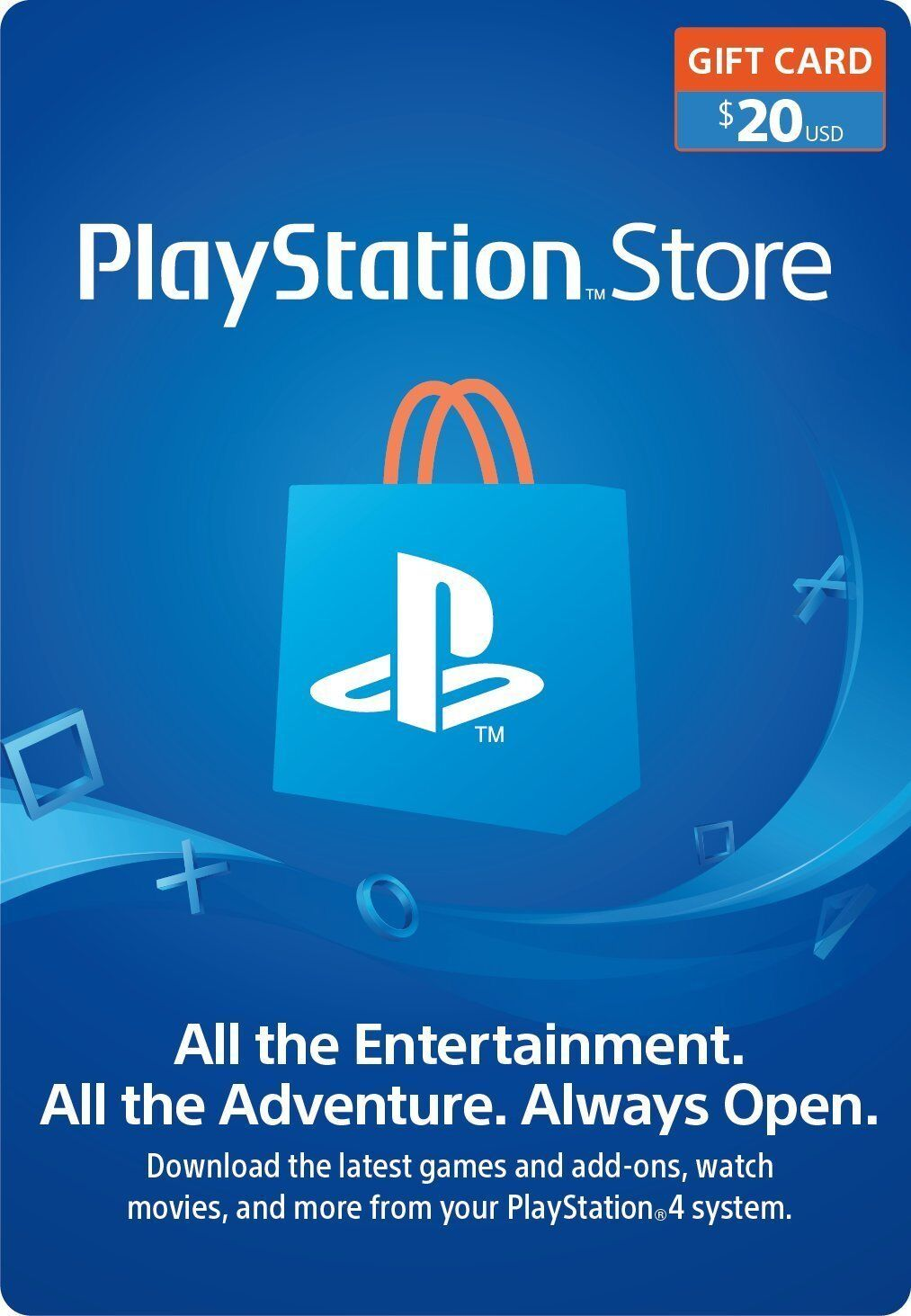 Best buy Playstation Network Gift Card $20 US PSN Points Ps4 USA Sony Fast email Delivery