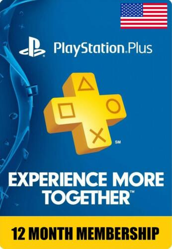 Sony PlayStation PS Plus 1 Year | 12 Month Membership Subscription Fast Delivery
