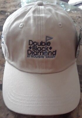 NEW Holiday Valley Double Black Diamond Golf Course NY Golf Hat Baseball Cap (Double Black Hat)