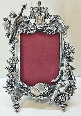 Large Vintage Angel Pewter Picture Frame