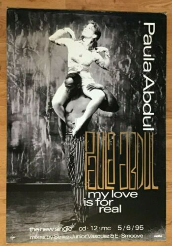 Paula Abdul-My Love Is For Real Virgin Records Promotional Display-19 x 28-1995