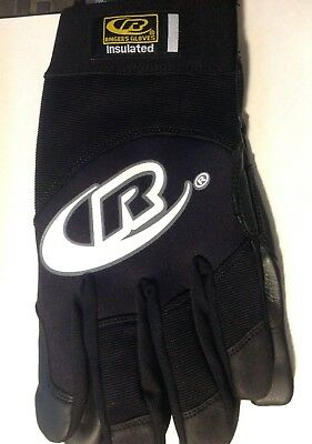 (RINGERS GLOVES 123-12 ALL PURPOSE INSULATED LEATHER GLOVES BLACK  XXL )