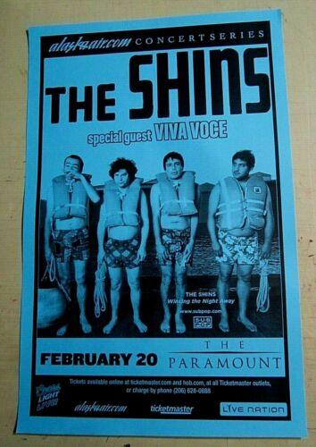 Shins 2007 Original Seattle Show Flyer Concert Poster w/ Viva Voce
