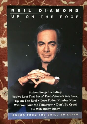 NEIL DIAMOND  Songs From The Brill Building  rare original promotional poster