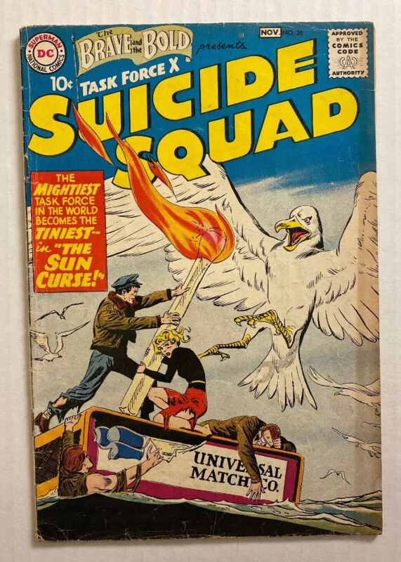 BRAVE AND THE BOLD #26 (DC 1959) VG+ 4.5 2nd SUICIDE SQUAD