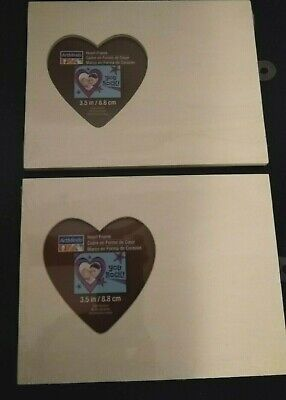 Wholesale Wood Craft Supplies (Picture frames unfinished wood heart lot of 2 craft supplies new)