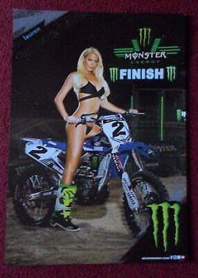 Sexy Girl Dorm Poster ~ Monster Energy Drink Lauren Yamaha Dirt Bike Motorcycle