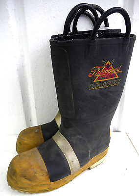 Mens Thorogood Hellfire Steel Toe Firefighter Fire Fighter Boots Size 8.5 Medium