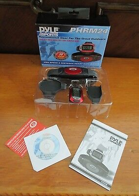 Pyle Sports Speed /Distance Heart Rate Watch W/ USB & 3D Walking/Running PHRM24  for sale  Shipping to India