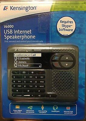 Kensington Vo300 USB Internet Speakerphone Skype Phone Call NEW #DK
