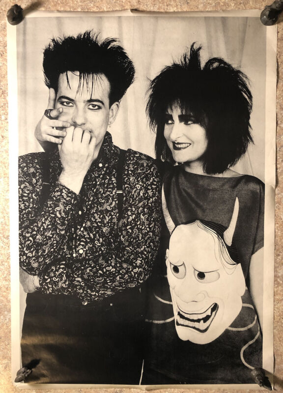 Robert Smith & Siouxsie RARE Original Vintage Poster free shipping The Cure