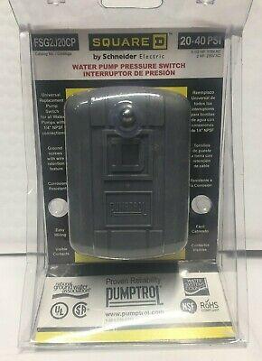 Water Pump Pressure Switch Schneider Electric Square D 2040 Psi Fsg2j20cp