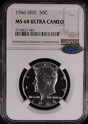 Click now to see the BUY IT NOW Price! 1966 KENNEDY HALF DOLLAR 50C SMS NGC CERTIFIED MS 68 ULTRA CAMEO QA 061