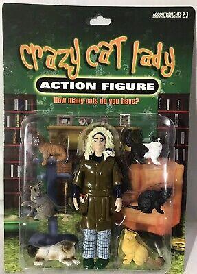 Crazy Cat Lady Actionfigur mit Katzen von Accoutrements ~ Neu in Packung