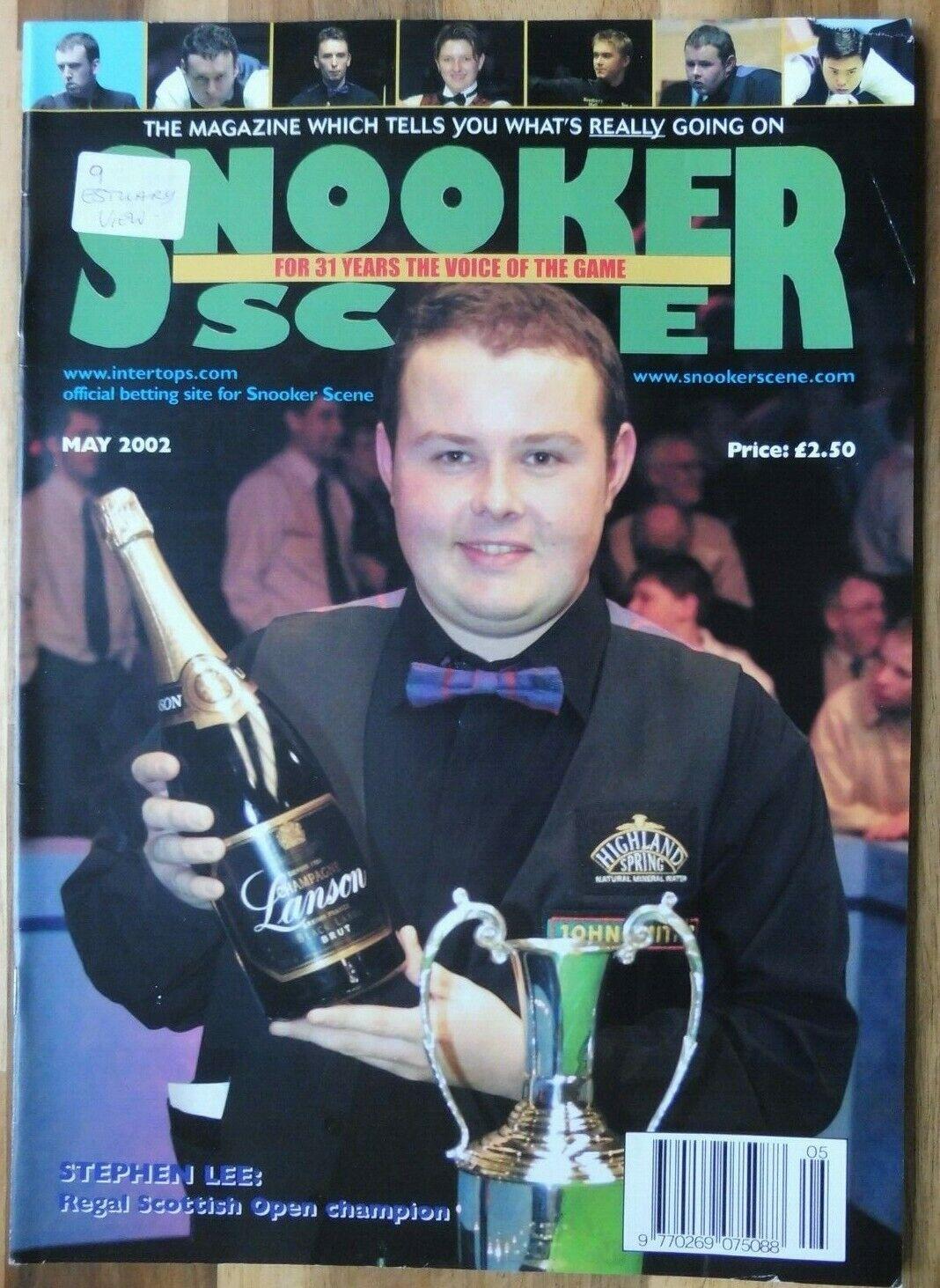 Snooker Scene Magazine, May 2002, Good Condition.