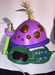 Disney Tinker Bell & Lost Treasure Alarm Clock Radio.+ Tinker Bell PEZ Dispenser