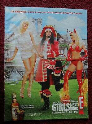 2006 Print Ad Captain Morgan Spiced Rum ~ The Girls Next Door Halloween Party - Morgan Halloween