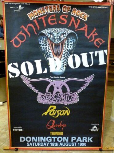 1990 Monsters Of Rock Huge 40x60 Concert Poster 100% Real Aerosmith Whitesnake