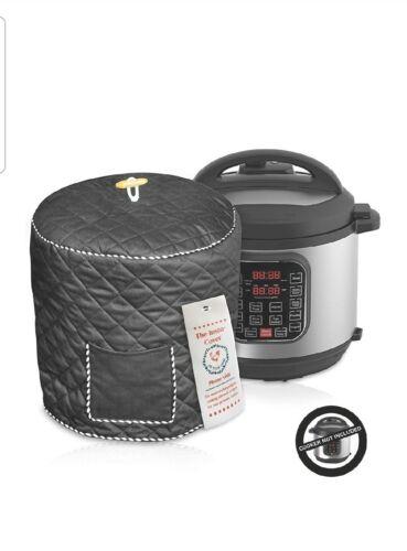 instant pot dust cover black fits 8qt