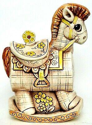 "Vintage Treasure Craft Rocking Horse Ceramic 12"" Cookie Jar 1970's"