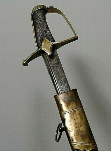 NAPOLEONIC FRENCH HUSSAR GRAND ARMEE OFFICER CAVALRY SWORD DAMASCUS 1792