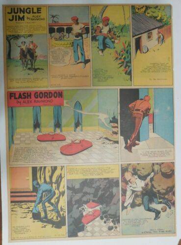 Flash Gordon Sunday by Alex Raymond from 6/13/1943 Large Full Page Size !