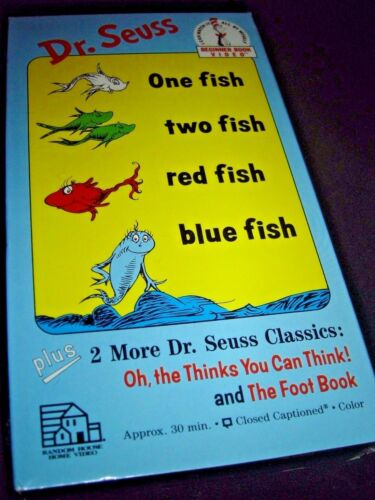 Beginner Book Video One Fish Two Fish Red Fish 1989 VHS NEW 0394830156 Dr Seuss