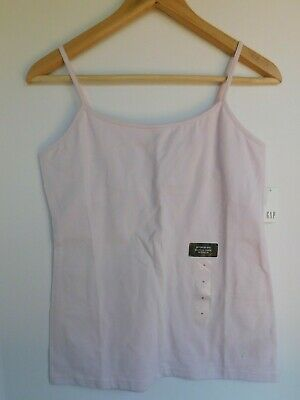 NWT Gap Women Stretchy Cami Adjustable Strap Support Bra Pale Lilac Small -