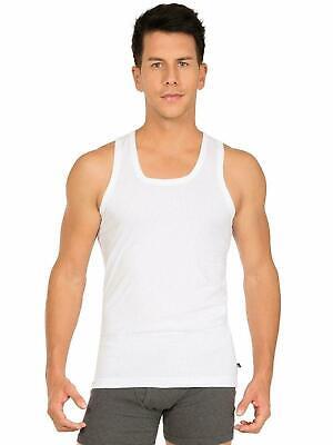 Jockey 8816 White Sleeveless Men's Cotton Vest Pack Of 2 Undershirts M, L and XL