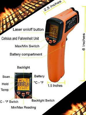Gm320 Digital Infrared Thermometer Temperature Gun Non-contact Ir Laser Point Rc