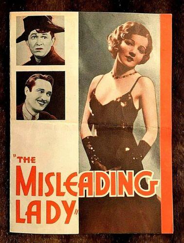THE MISLEADING LADY 1932 ORIGINAL MOVIE HERALD - CLAUDETTE COLBERT, EDMUND LOWE