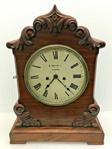 Stunning Antique 1860 English S. Tanner Twin Fussee Bracket Clock