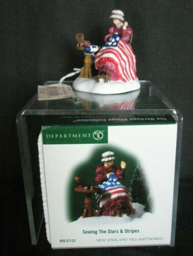 Dept. 56  2006 New England Village #57122  Sewing The Stars And Stripes - In Box
