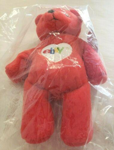 Ruby the Bear EBay Official Bean Bag  New In Original Bag HTF No Scarf Version