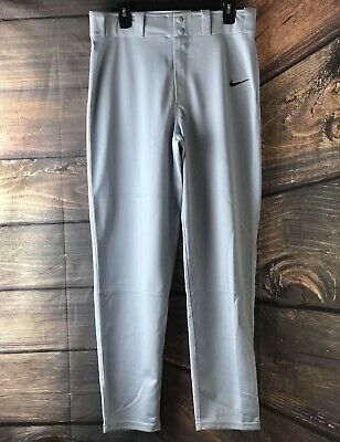 bd8f3bf30a46 Nike Men s Nike Light Gray Athletic Baseball Softball Pants Sz M Sport