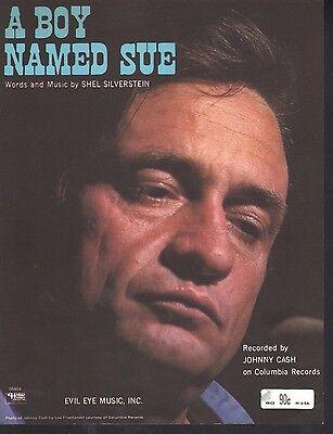A Boy Named Sue 1969 Johnny Cash Sheet Music