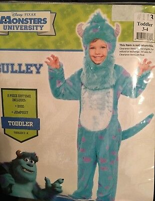Brand New Disney Monster University Sulley 2 piece Toddler Fur costume size 3-4](Monster University Costumes)