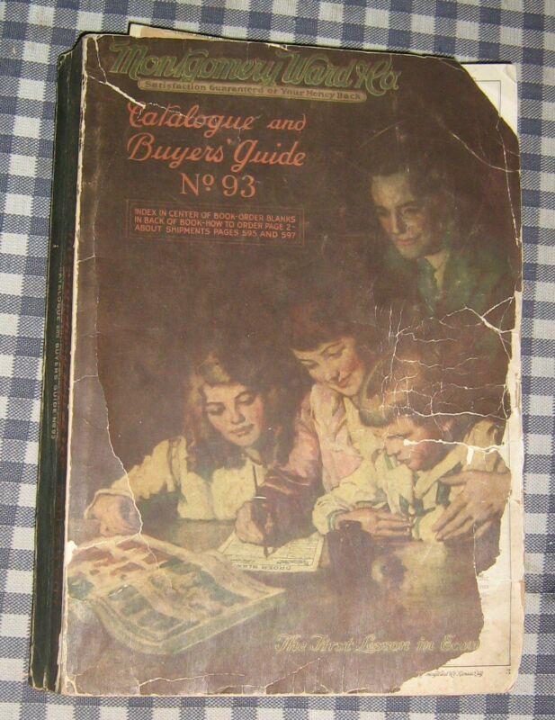 Vintage 1920 Montgomery Wards Catalog,No. 93,Toys,Trains,Clothes,Games,Record,+