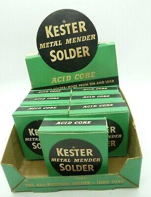 Vintage Nos Kester Metal Mender Solder Acid Core Lot Seven Boxes Retail Display