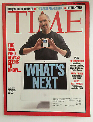 Time Magazine October 24, 2005 What's Next Steve Jobs Apple CEO