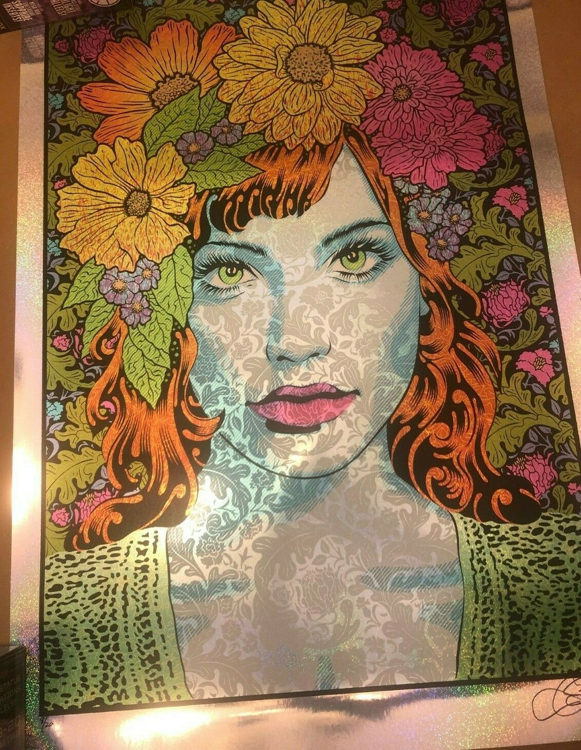Chuck Sperry Empathy 2020 Sparkle Foil Screen Art Print Signed Edition #08 of 20