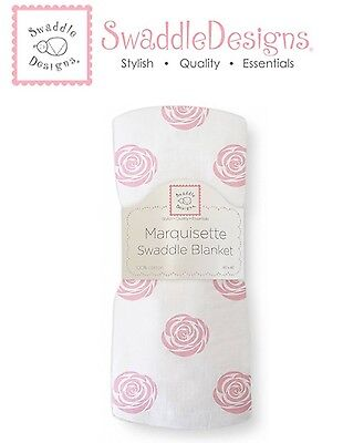 SwaddleDesigns ROSE Marquisette Swaddle Blanket softer than