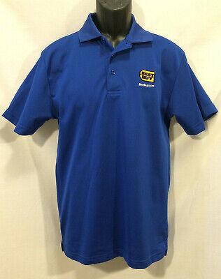 Best Buy Mens Golf Polo Shirt Size S Blue Employee Work Uniform 100%