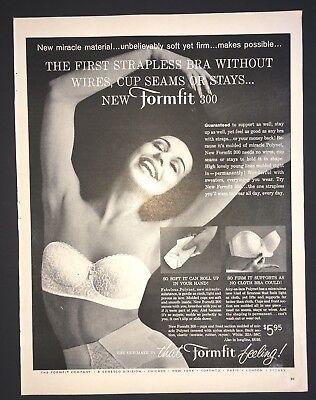 Life Magazine Ad 1961 FORMFIT COMPANY Strapless Bra