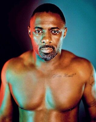 Idris Elba 8x10 Shirtless Photo Print Sexy Hot Naked Male Actor Photograph](Hot Male Movies)