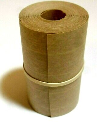 25-foot Reinforced Paper Tape Roll Gummed Brown Kraft Shipping Packaging Sealing