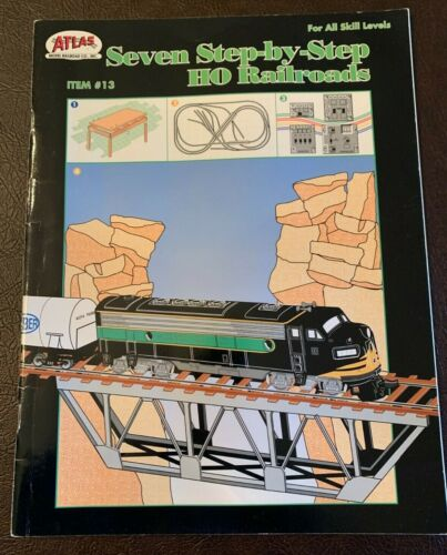 Seven Step-By-Step HO Railroads, Benchwork, Tracklaying, Wiring - Free Shipping