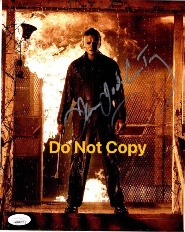 JAMES JUDE COURTNEY signed 8x10 Photo Michael Myers 2021 HALLOWEEN KILLS JSA